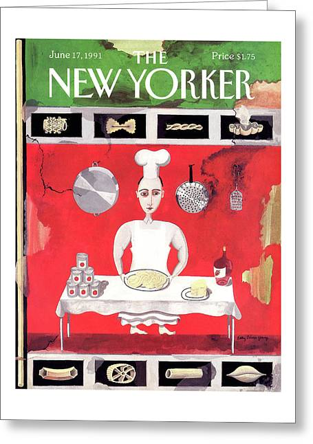 New Yorker June 17th, 1991 Greeting Card