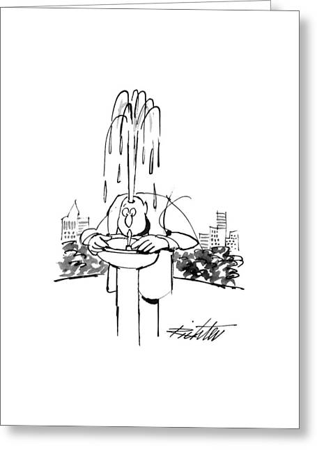 New Yorker June 17th, 1996 Greeting Card by Mischa Richter