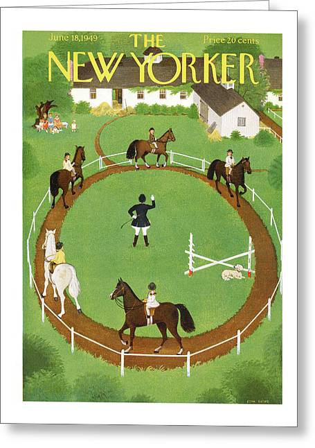 New Yorker June 18th, 1949 Greeting Card