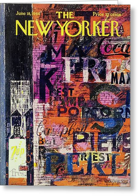 New Yorker June 18th 1966 Greeting Card by Kenneth Mahood