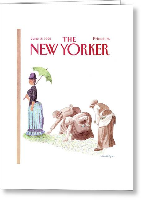 New Yorker June 18th, 1990 Greeting Card by J.B. Handelsman
