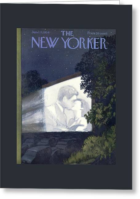 New Yorker June 19th, 1954 Greeting Card by Arthur Getz