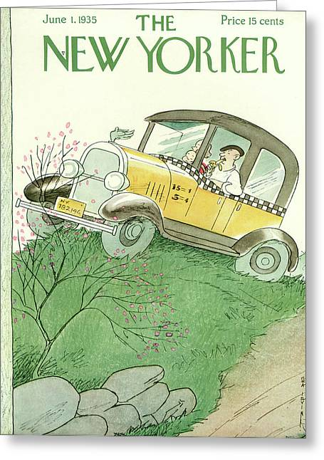 New Yorker June 1st, 1935 Greeting Card by Rea Irvin