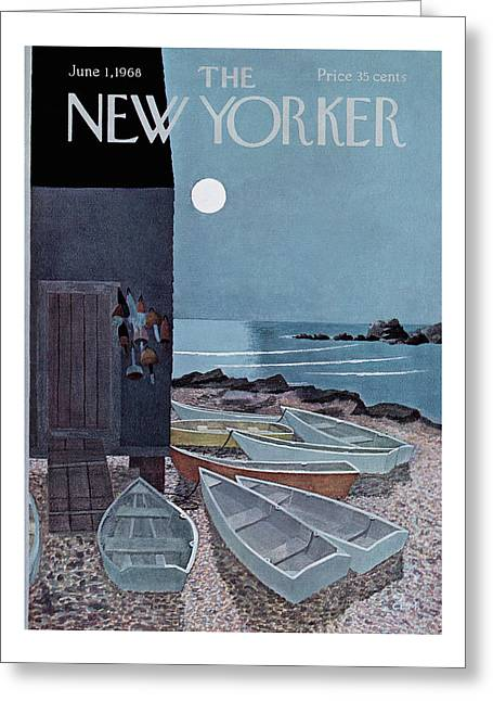 New Yorker June 1st, 1968 Greeting Card