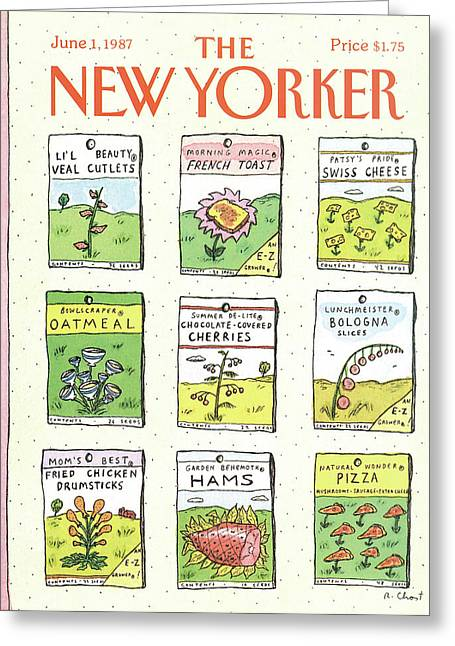 New Yorker June 1st, 1987 Greeting Card