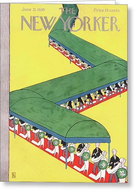 New Yorker June 21st, 1930 Greeting Card by Gardner Rea
