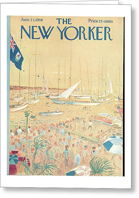 New Yorker June 21st, 1958 Greeting Card