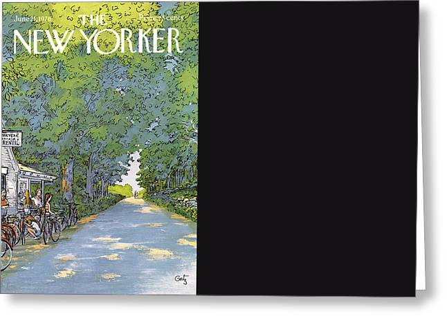 New Yorker June 21st, 1976 Greeting Card by Arthur Getz