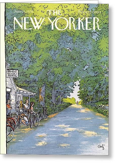 New Yorker June 21st, 1976 Greeting Card