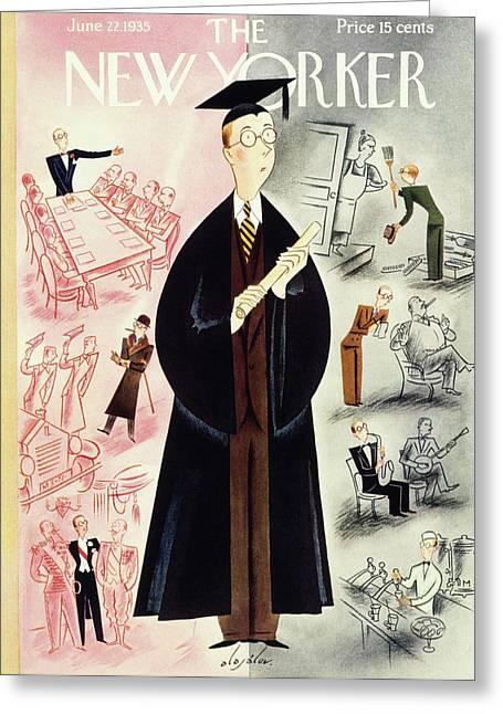 New Yorker June 22 1935 Greeting Card