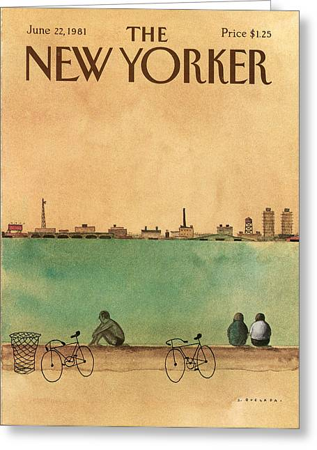 New Yorker June 22nd, 1981 Greeting Card by Abel Quezada