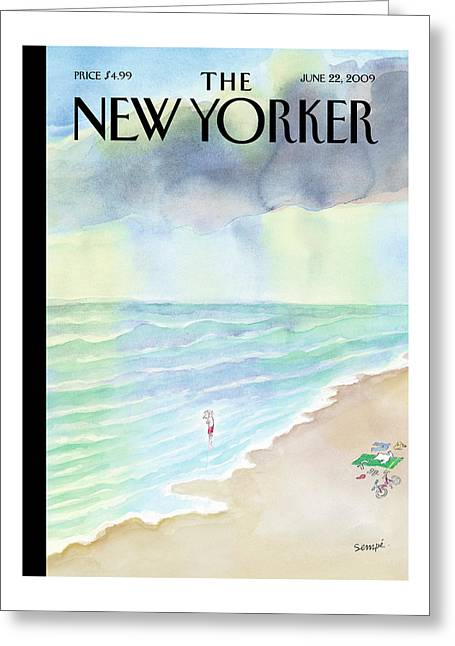 New Yorker June 22nd, 2009 Greeting Card