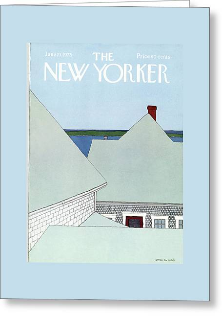 New Yorker June 23rd, 1975 Greeting Card by Gretchen Dow Simpson