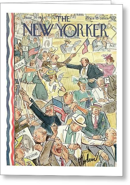 New Yorker June 24th, 1944 Greeting Card
