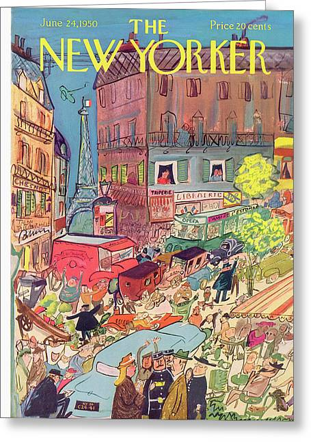 New Yorker June 24th, 1950 Greeting Card