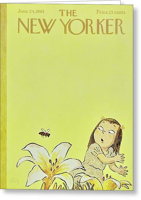 New Yorker June 24th 1961 Greeting Card