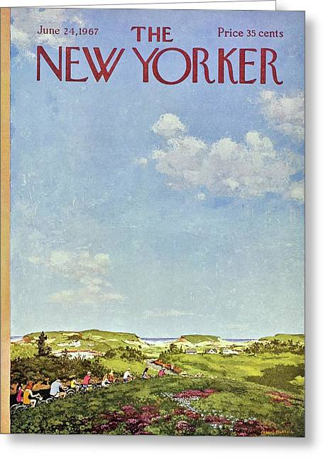 New Yorker June 24th 1967 Greeting Card by Albert Hubbell