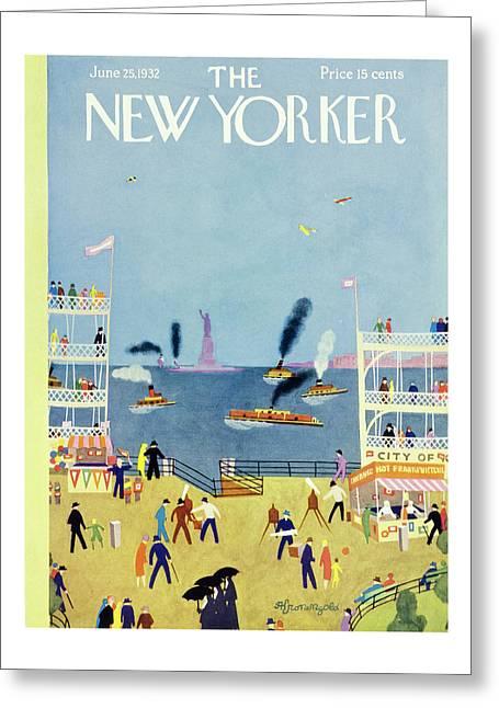 New Yorker June 25 1932 Greeting Card