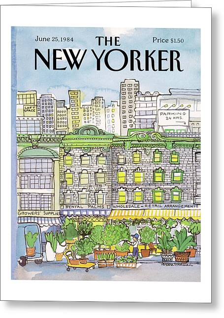 New Yorker June 25th, 1984 Greeting Card