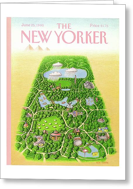 New Yorker June 25th, 1990 Greeting Card