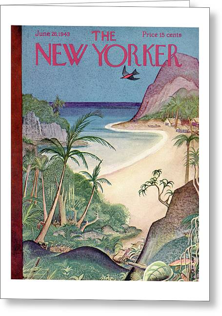 New Yorker June 26th, 1943 Greeting Card by Rea Irvin