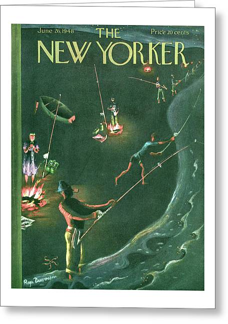 New Yorker June 26th, 1948 Greeting Card