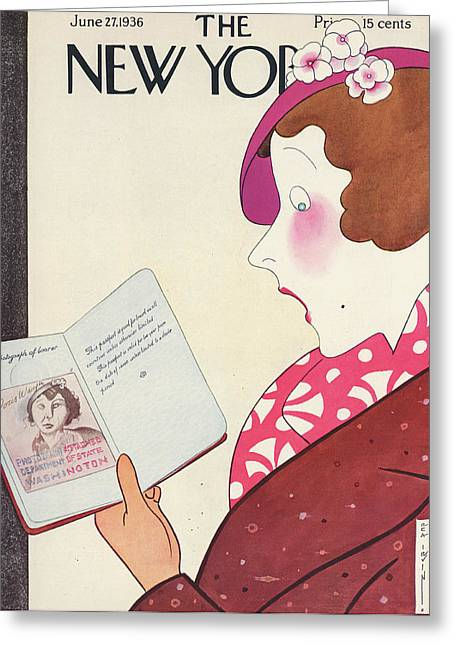 New Yorker June 27th, 1936 Greeting Card by Rea Irvin