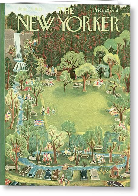 New Yorker June 27th, 1953 Greeting Card by Ilonka Karasz