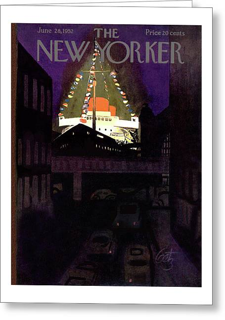 New Yorker June 28th, 1952 Greeting Card