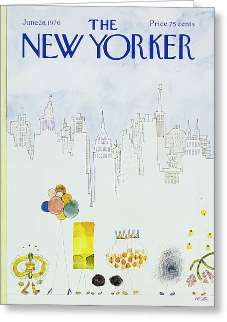 New Yorker June 28th 1976 Greeting Card
