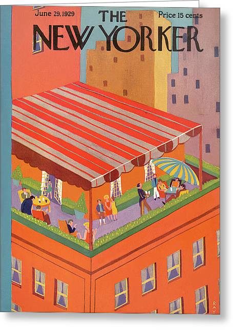 New Yorker June 29th, 1929 Greeting Card by Ray Euffa