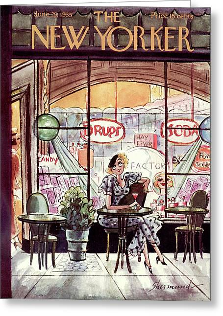 New Yorker June 29th, 1935 Greeting Card by Barbara Shermund