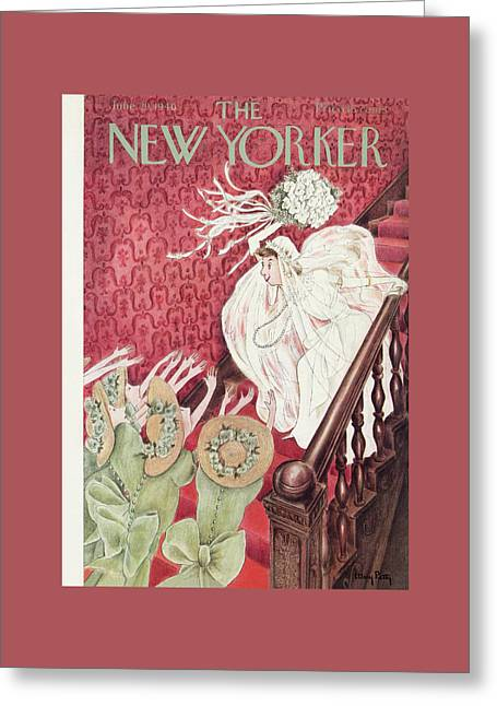 New Yorker June 29th, 1940 Greeting Card by Mary Petty