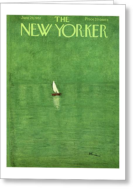 New Yorker June 29th, 1957 Greeting Card