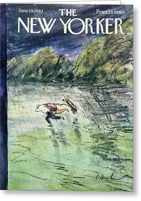 New Yorker June 29th 1963 Greeting Card