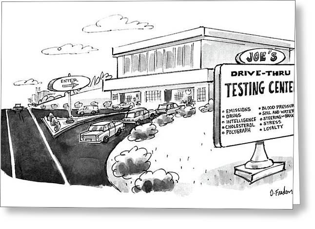New Yorker June 29th, 1987 Greeting Card by Dana Fradon