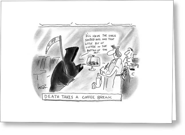 New Yorker June 29th, 1992 Greeting Card by Arnie Levin