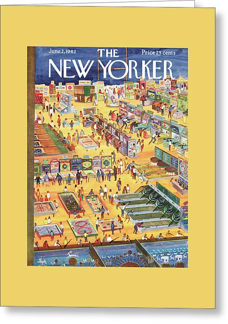 New Yorker June 2nd, 1962 Greeting Card by Anatol Kovarsky