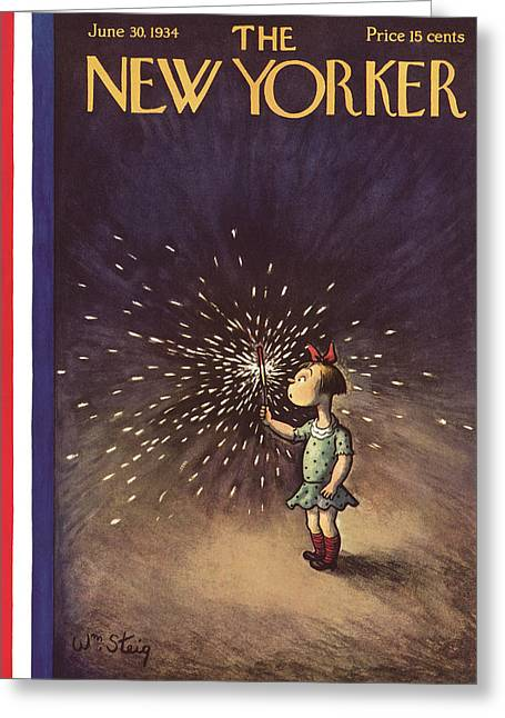 New Yorker June 30th, 1934 Greeting Card by William Steig