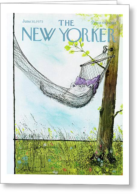 New Yorker June 30th, 1975 Greeting Card by Ronald Searle