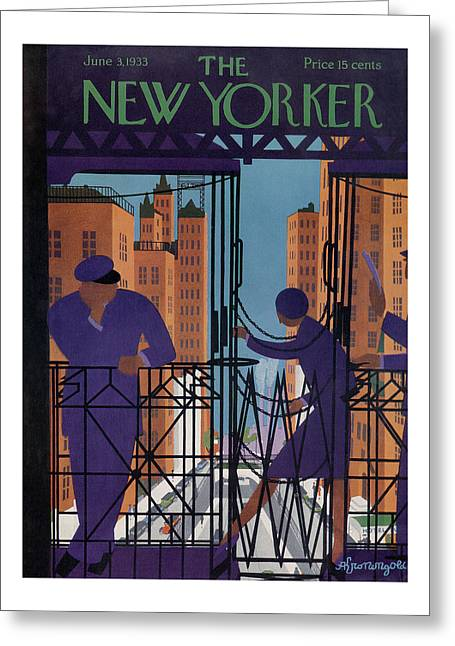 New Yorker June 3rd, 1933 Greeting Card