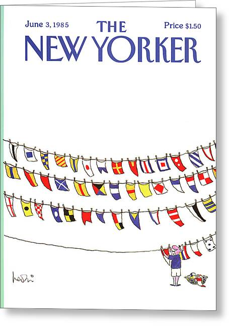 New Yorker June 3rd, 1985 Greeting Card by Arnie Levin