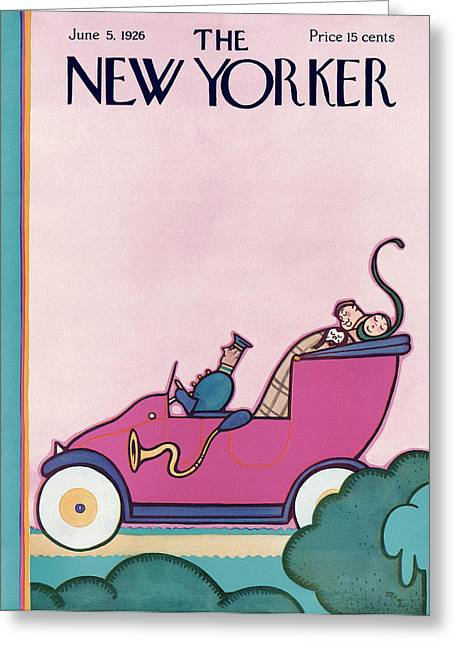 New Yorker June 5th, 1926 Greeting Card by Rea Irvin