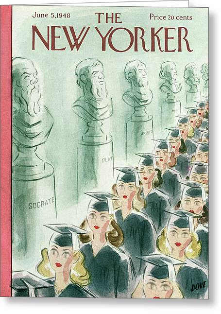 New Yorker June 5th, 1948 Greeting Card