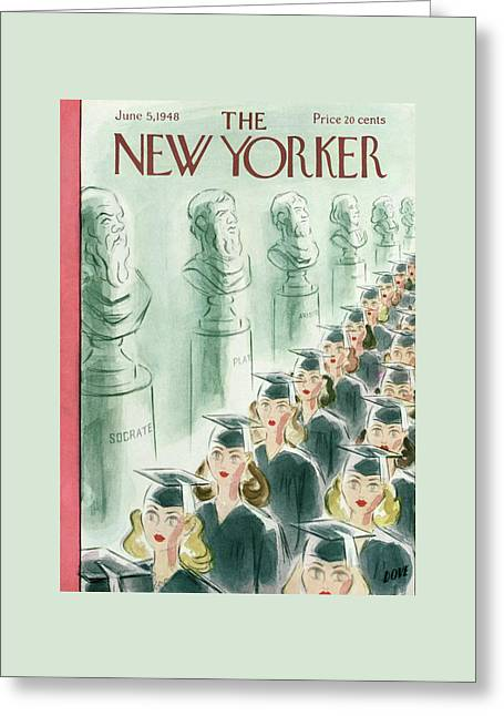 New Yorker June 5th, 1948 Greeting Card by Leonard Dove