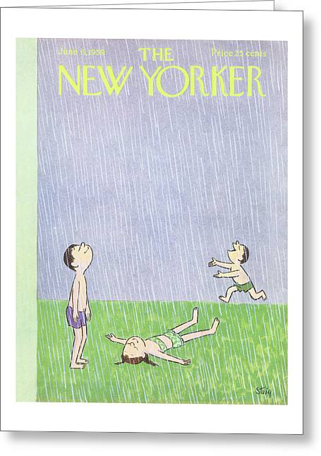 New Yorker June 6th, 1959 Greeting Card
