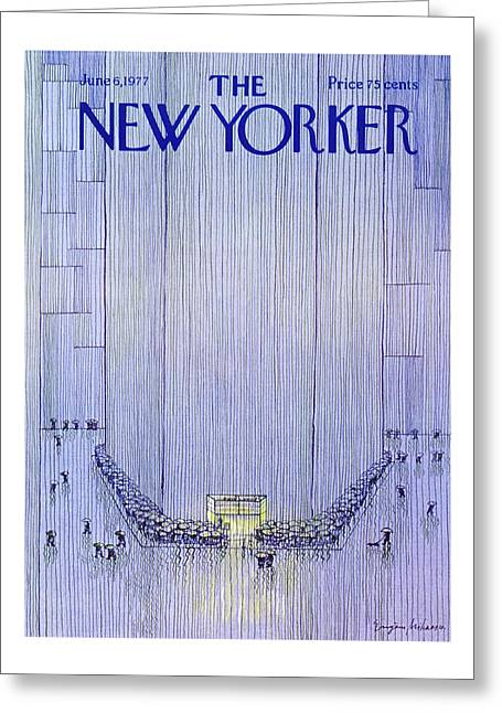 New Yorker June 6th 1977 Greeting Card