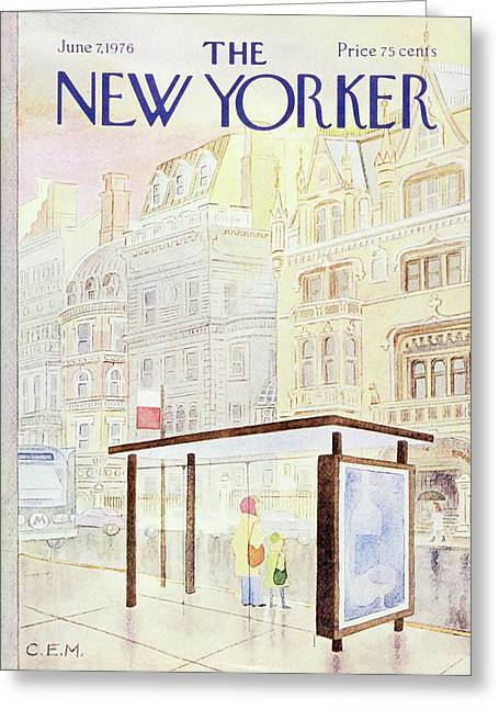 New Yorker June 7th 1976 Greeting Card