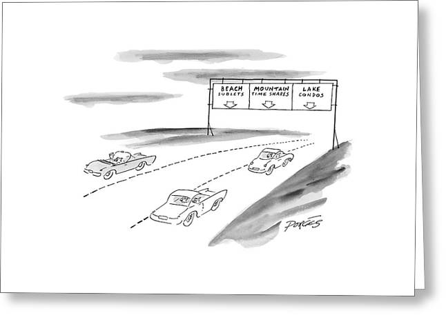 New Yorker June 7th, 1999 Greeting Card by Peter Porges