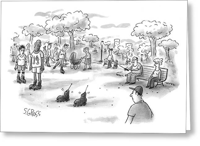 New Yorker June 7th, 1999 Greeting Card by Sam Gross